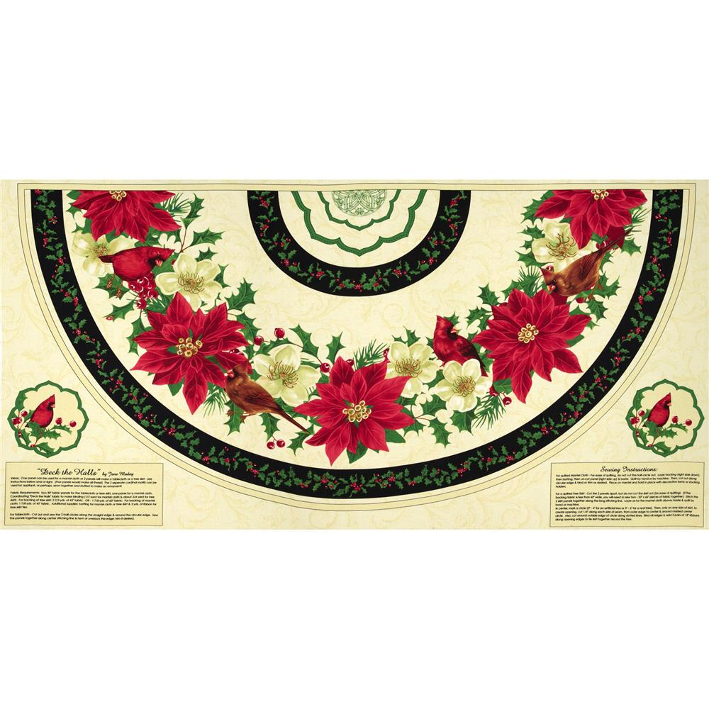 "Deck The Halls 30"" Tree Skirt Panel Multi"