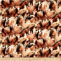 Greener Pastures Packed Horses Tan