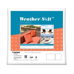 "Fairfield Weather Soft Outdoor Cushion 19"" x 21"" x 3"""