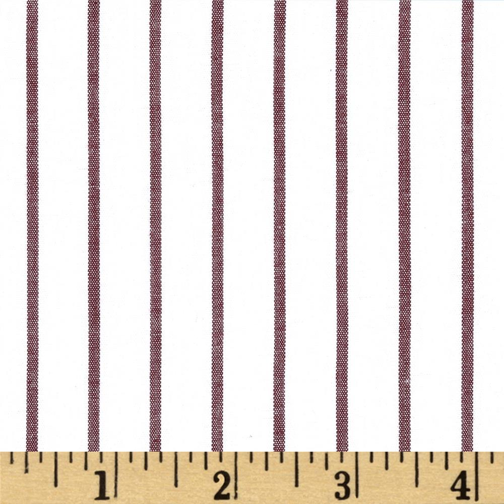 Stretch Poplin Stripes White/Brown