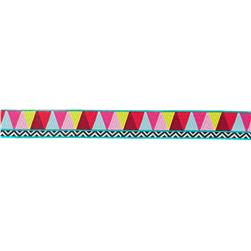 7/8'' Amy Butler Mosaic Ribbon Yellow/Pink/Blue