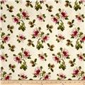 Romantic Afternoon Flannel  Small Floral Ivory