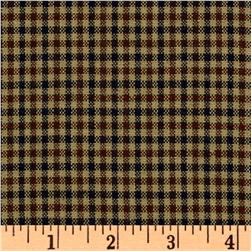 Cotton Yarn Dyed Suiting Plaid Brown/Navy