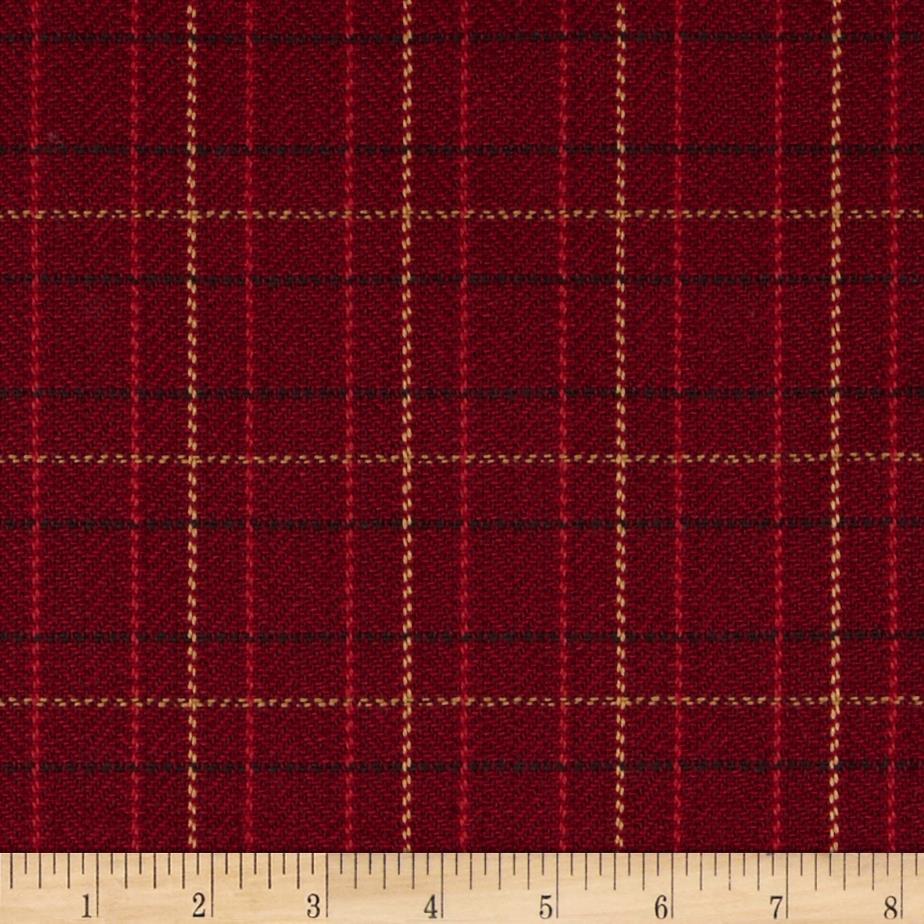Robert Allen Promo Upholstery Scottish Twill Scarlet