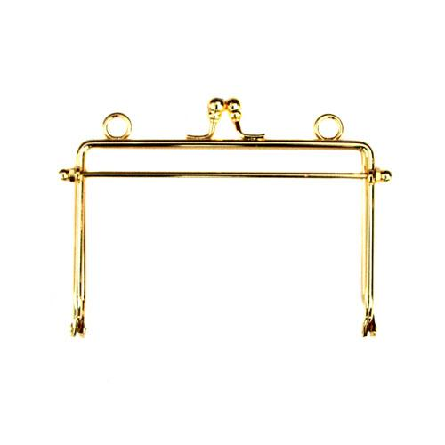 Metal Purse Frame 5'' x 3 1/2'' Gold