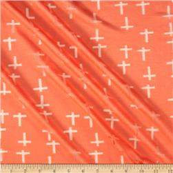 Jersey Knit Crosses Peach