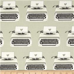 Cotton & Steel Black & White Typewriters