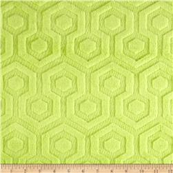 Premier Prints Embossed Geo Cuddle Apple Green