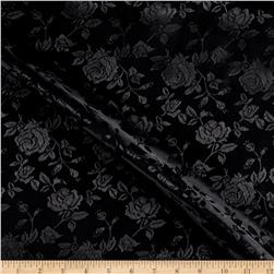 Rose Satin Jaquard Black