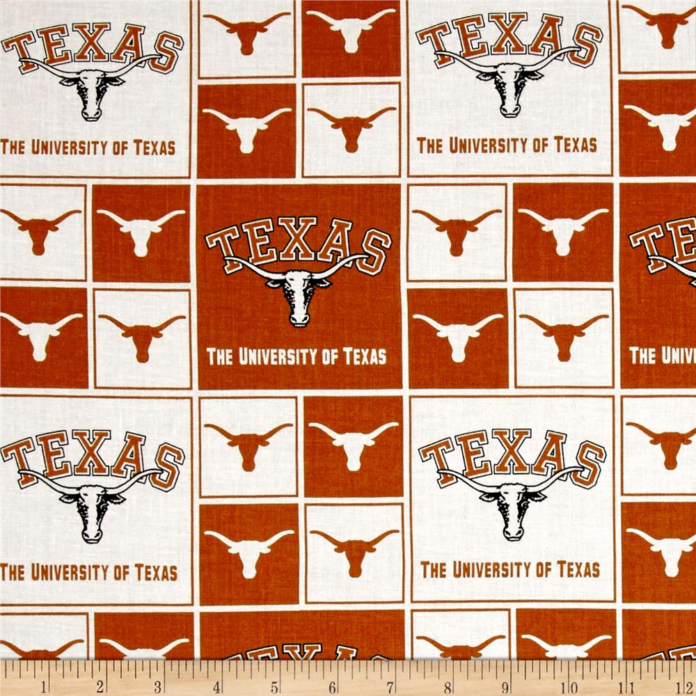 image relating to Printable College Logos identified as NCAA College of Texas Box Emblems Allover Orange