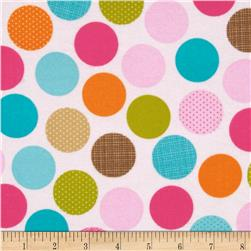Riley Blake Summer Breeze Flannel Dot Pink