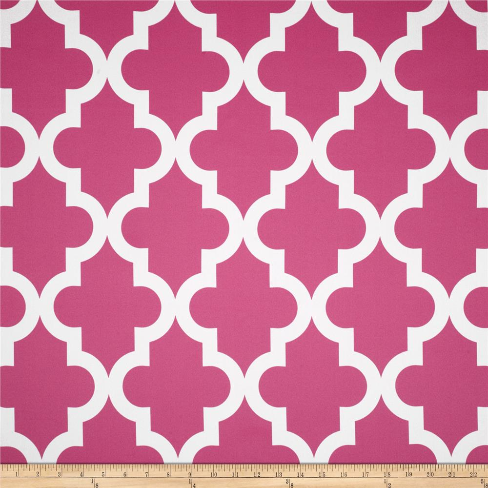 RCA Trellis Blackout Drapery Fabric Hot Pink