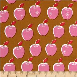 Cotton + Steel Picnic Apples Pink