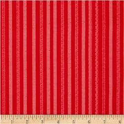 Holiday Texture Stripe Red