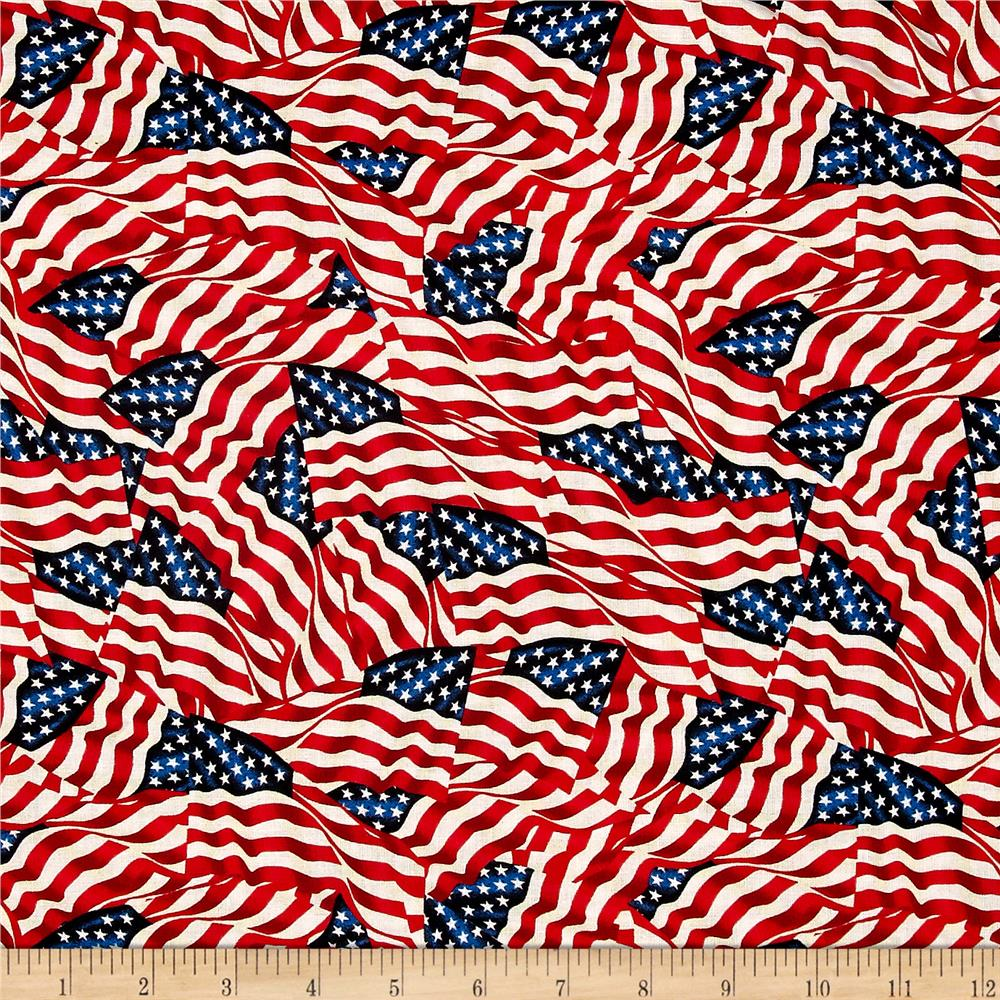 """108"""" Wide Quilt Back Flags Multi"""