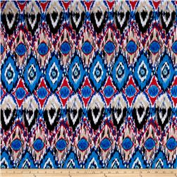 ITY Knit Bohemian Print Royal Blue