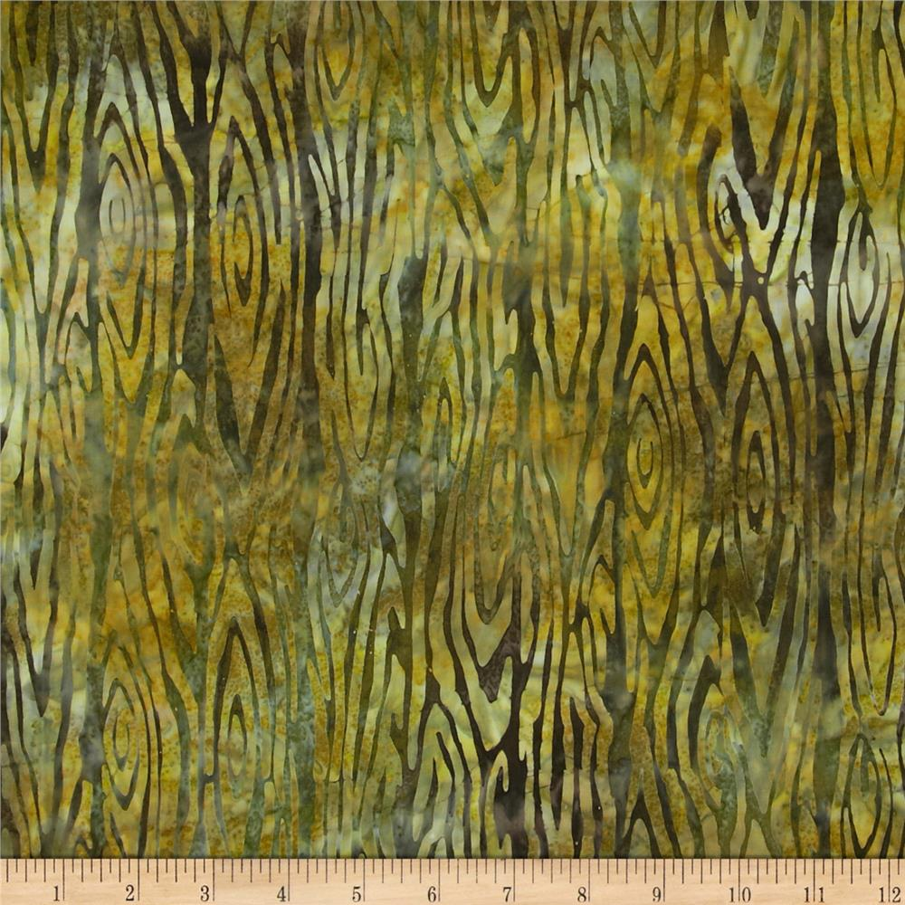Artisan Batiks Northwoods Bark Nature Green