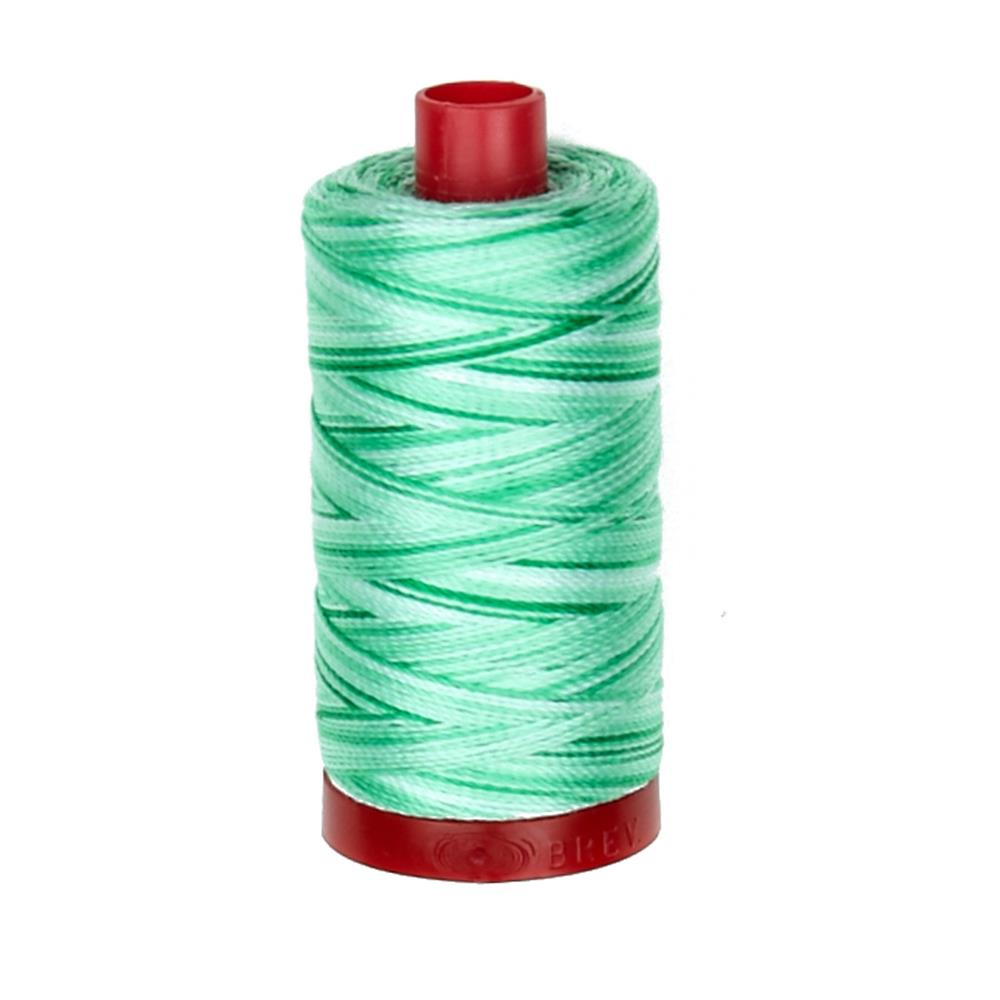 Aurifil 12wt Variegated Embellishment and Sashiko Dreams Thread Mint Julep