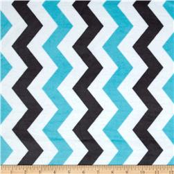 Michael Miller It's A Boy Thing Cozy Shimmy Shake Chevron Aqua