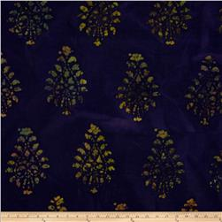 Textile Creations Burlap Damask Purple