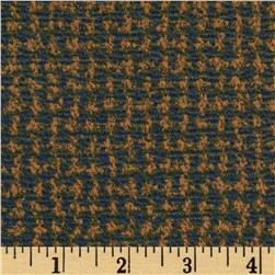 Crepe Double Knit Mini Check Teal/Blue/Gold