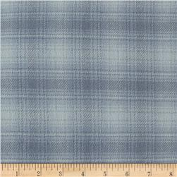 Color Catchers Yarn-Dye Flannel Ombre Plaid Light Gray