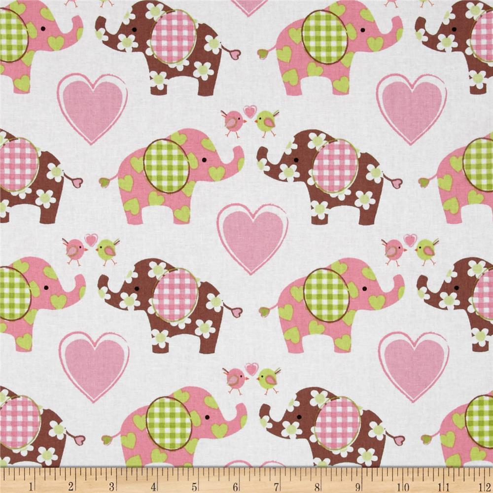 Nursery best friends love green discount designer fabric for Nursery fabric