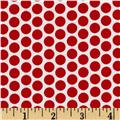 Riley Blake Honeycomb Reversed Dot White/Red