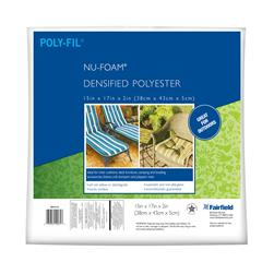 "Fairfield Poly-Fil Nu-Foam 15"" x 17"" x 2"""