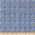 Facets Confetti Trellis Metallic Blue