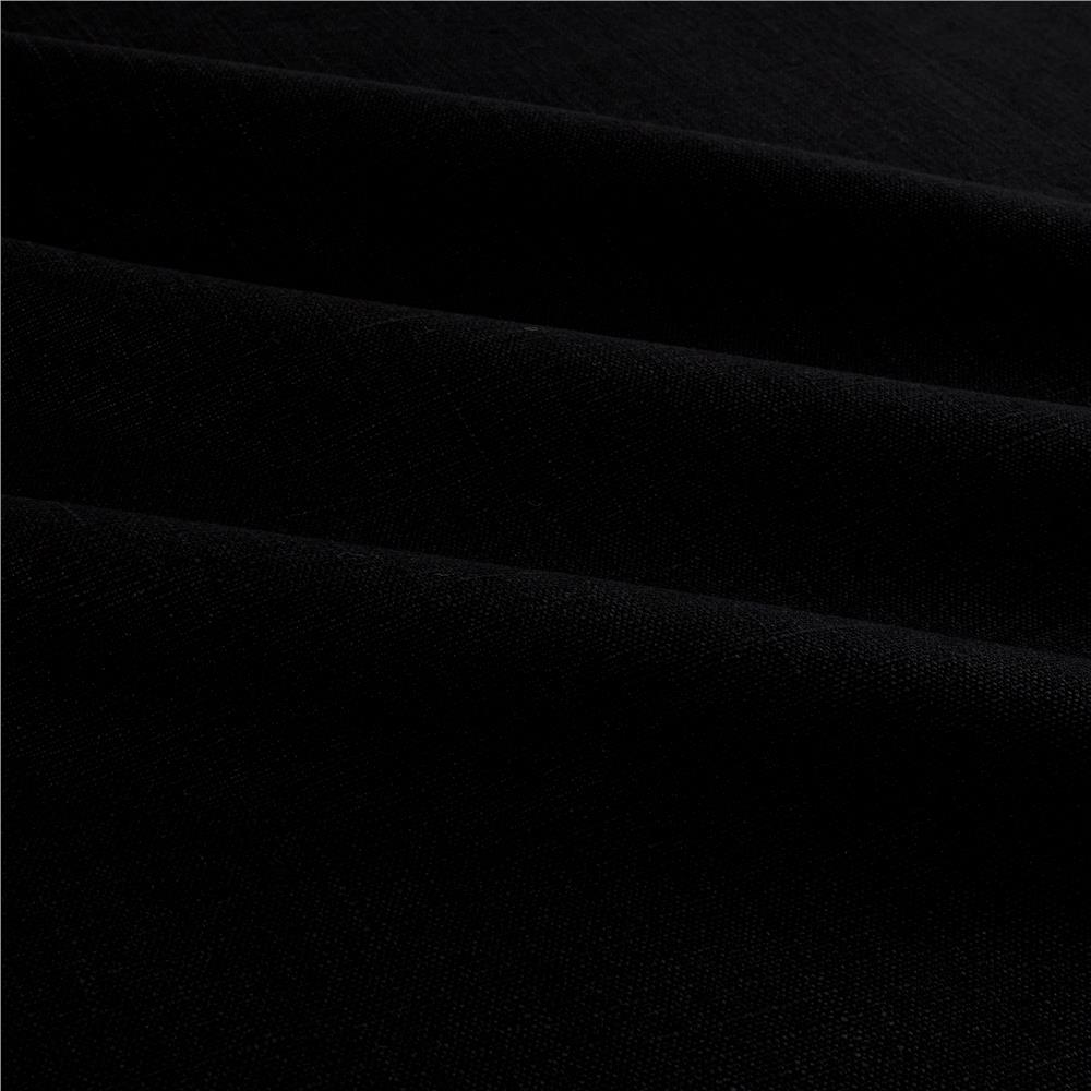 European 100% Washed Linen Black
