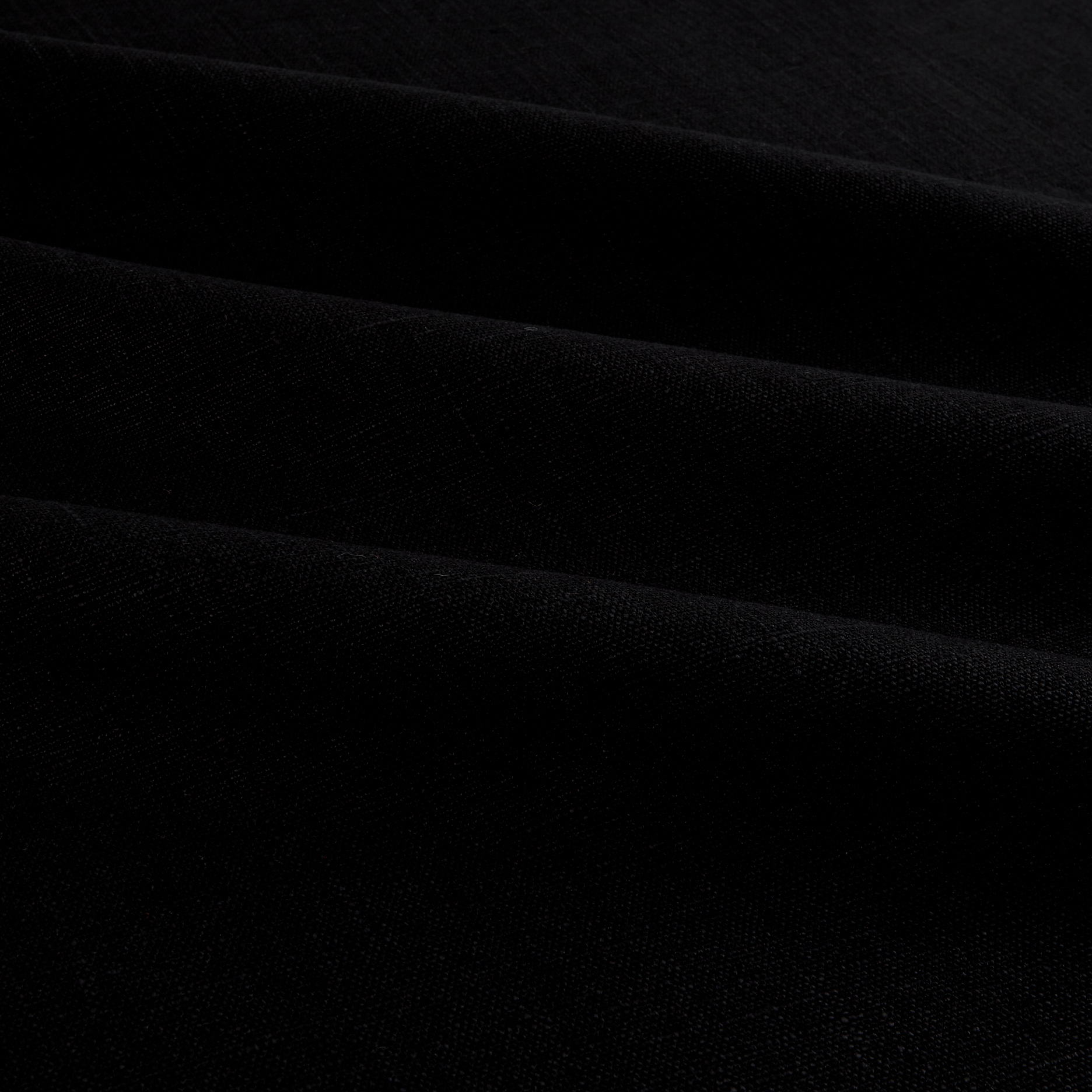 European 100% Washed Linen Black Fabric by Noveltex in USA