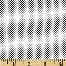 Moda Dottie Tiny Dots White/Jet Black
