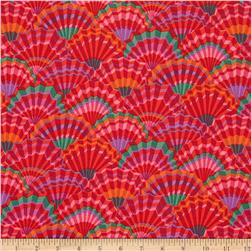 Kaffe Fassett Paper Fans Red Fabric