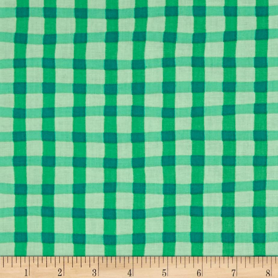 Animal ABC's Plaid Green