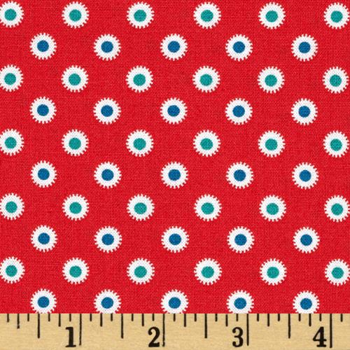 Hazel Dot Red