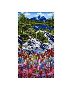Timeless Treasures Botanical Trail Mountain Scenic Mountain