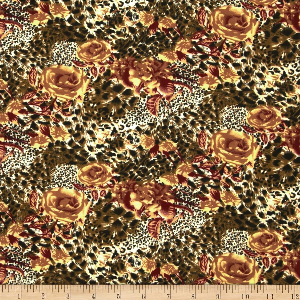 Jungle Safari Broadcloth Cheetah Rose Brown