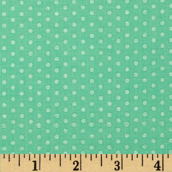 Kaufman Spot On Pearl Metallic Small Dot Mint
