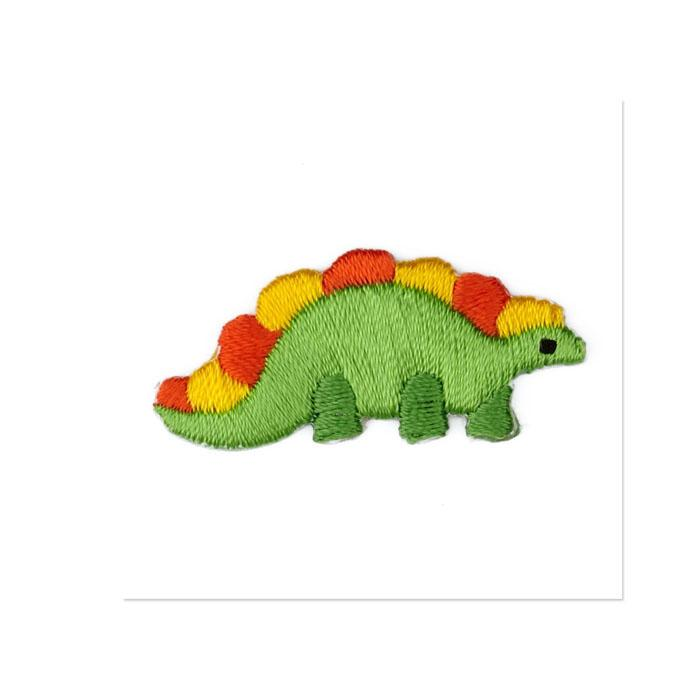 Boutique Applique Dinosaur Green/Yellow/Orange
