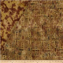 Indian Batik Double Face Quilted Geo Natural