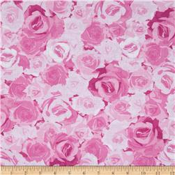Kanvas English Rosey Rose Garden Light Pink Fabric