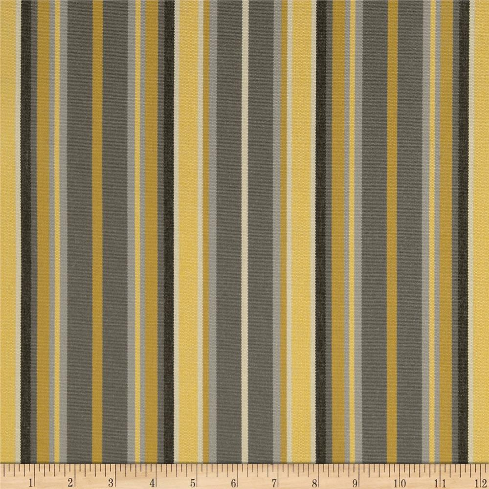 Sunbrella Outdoor Foster Stripe Metallic Grey