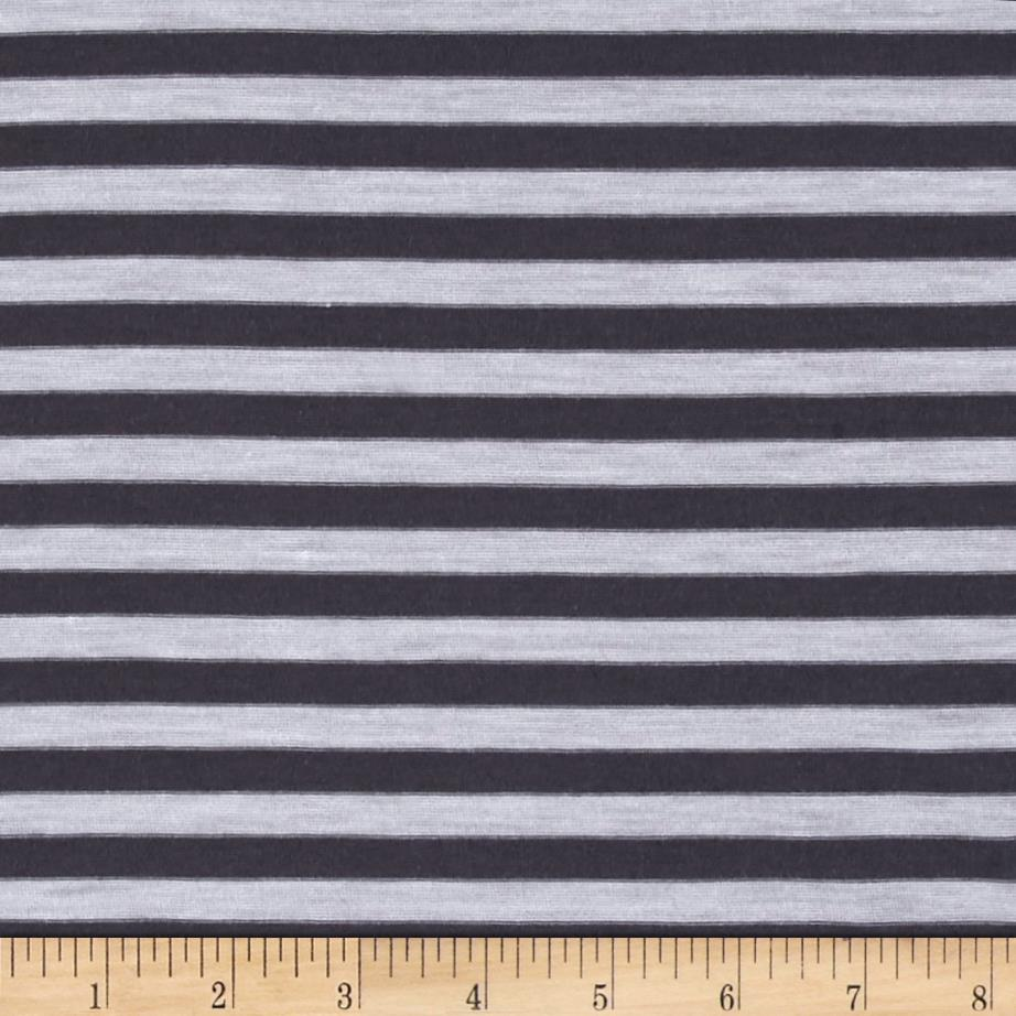 Jersey Knit Stripe Charcoal/White