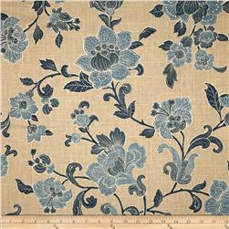 Duralee Jacobean Bouquet Blend Natural/Blue