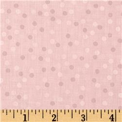 Cotton Blend Lawn Burnout Dot Baby Pink