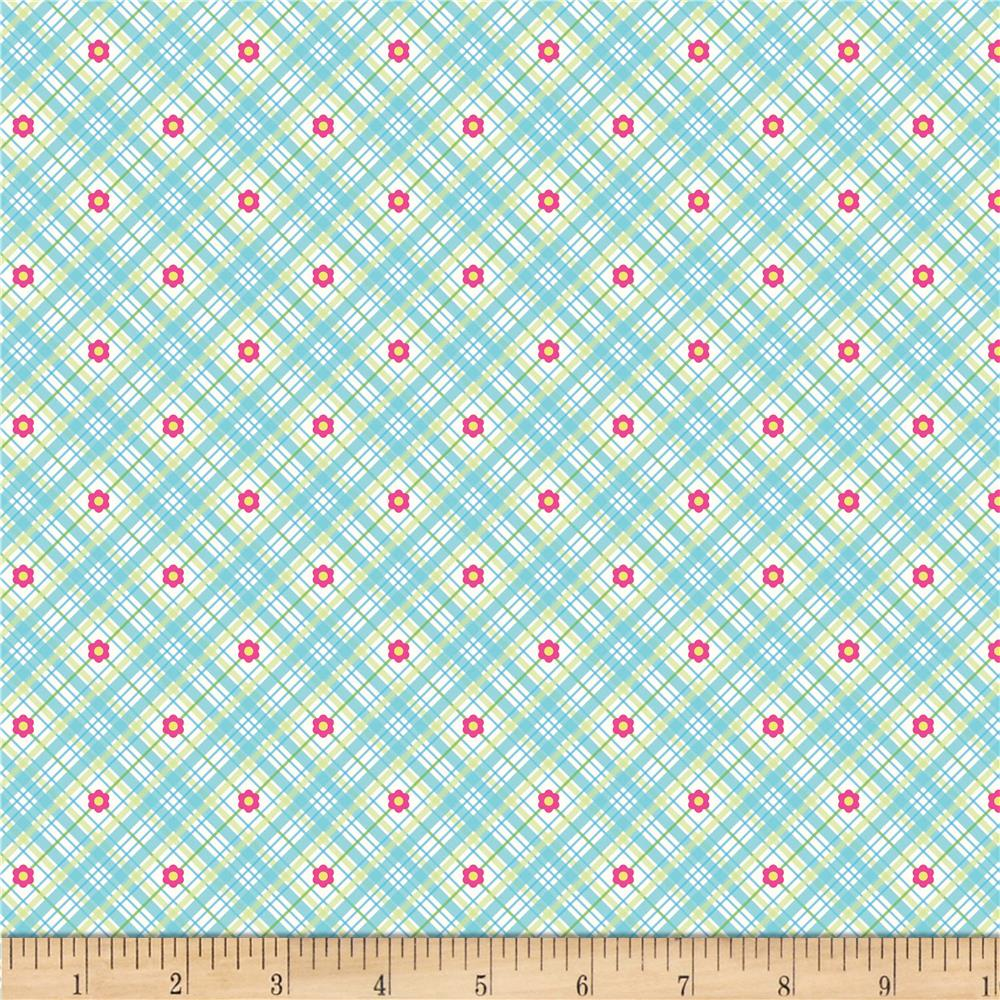 Riley Blake Sweet Home Plaid Blue
