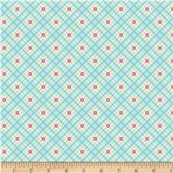 Riley Blake Sweet Home Plaid Blue Fabric