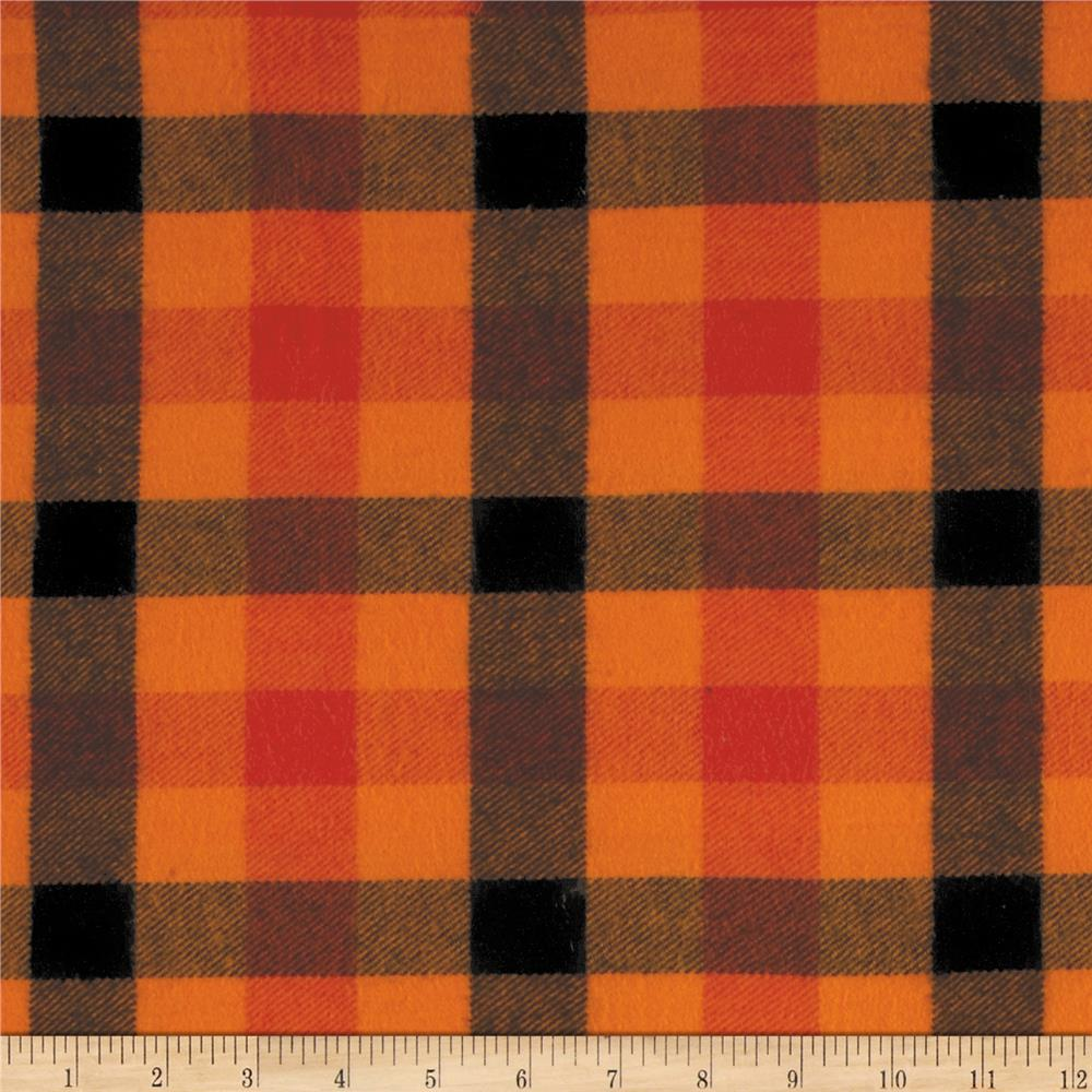 primo plaids harvest flannel buffalo plaid orange. Black Bedroom Furniture Sets. Home Design Ideas