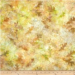 Batavian Batiks Forest Leaves Light Mocha/Peach